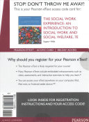The Social Work Experience Pearson EText Access Code