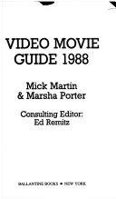 Video Movie Guide  1988