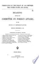 Termination of the Treaty of 1832 Between the United States and Russia Book