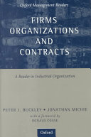 Pdf Firms, Organizations and Contracts