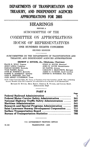 Departments+of+Transportation+and+Treasury%2C+and+Independent+Agencies+Appropriations+for+2005