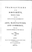 Pdf Transactions of the Society Instituted at London for the Encouragement of Arts, Manufactures, and Commerce