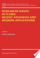 Nonlinear Waves in Fluids  Recent Advances and Modern Applications Book