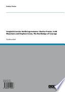 Vergleich zweier Antikriegsromane: Charles Frazier, Cold Mountain und Stephen Crane, The Red Badge of Courage