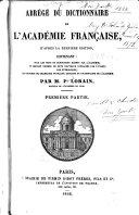 Abrége du dictionnaire de l'Académie française...