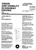 Vision and Visibility in Highway Driving Book