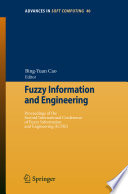 Fuzzy Information And Engineering Book PDF