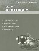 Saxon Algebra 2 Homeschool Testing Book