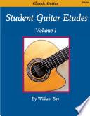 Student Guitar Etudes Volume 1