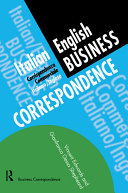 Pdf Italian/English Business Correspondence Telecharger