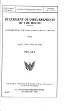 Statement of disbursements of the House: as compiled by the ...