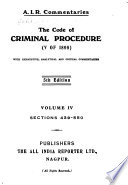 The Code of Criminal Procedure (V of 1898)