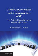 Corporate Governance In The Common Law World