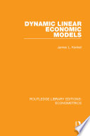 Dynamic Linear Economic Models