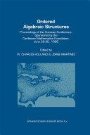 Ordered Algebraic Structures