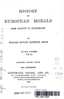 HIstory of European Morals