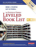The Fountas and Pinnell Leveled Book List K 8  Book