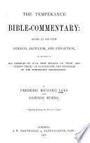 The Temperance Bible commentary