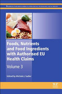 Foods  Nutrients and Food Ingredients with Authorised EU Health Claims Book