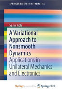A Variational Approach to Nonsmooth Dynamics