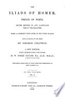 The Iliads of Homer  Prince of Poets Book