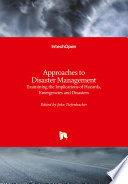 Approaches to Disaster Management Book