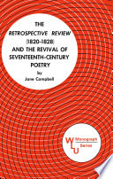 The Retrospective Review 1820 1828 And The Revival Of Seventeenth Century Poetry