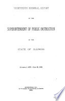 Annual Report of the Superintendent of Public Instruction  State of Illinois
