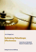 Rethinking Philanthropic Effectiveness