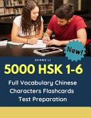 5000 HSK 1-6 Full Vocabulary Chinese Characters Flashcards Test Preparation