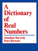 A Dictionary of Real Numbers Book