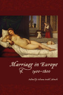 Marriage in Europe, 1400-1800