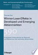 Winner-Loser-Effekte in Developed und Emerging Aktienmärkten