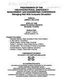 Proceedings of the 1992 International Emergency Management and Engineering Conference