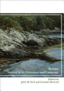 Scots  Studies in its Literature and Language