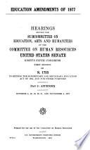 Education Amendments of 1977
