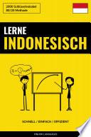 Lerne Indonesisch - Schnell / Einfach / Effizient