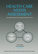 Health Care Needs Assessment  First Series  Volume 2  Second Edition