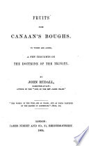 Fruits from Canaan s Boughs