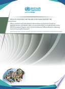 What National and Subnational Interventions and Policies Based on Mediterranean and Nordic Diets are Recommended Or Implemented in the WHO European Region, and is There Evidence of Effectiveness in Reducing Noncommunicable Diseases?