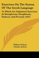 Exercises on the Syntax of the Greek Language Book