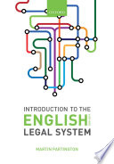 Introduction to the English Legal System 2018 19