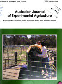 Australian Journal Of Experimental Agriculture Book PDF