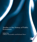 Studies In The History Of Public Economics