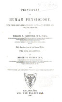 Principles of Human Physiology  with Their Chief Applications to Pathology  Hygiene  and Forensic Medicine