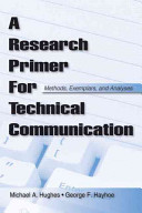 A Research Primer for Technical Communication Book