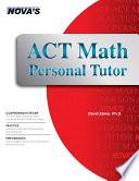 ACT Math Personal Tutor Book