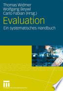 Evaluation  : Ein systematisches Handbuch