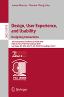 Design, User Experience, and Usability: Designing Interactions