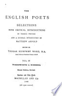 The English Poets  Wordsworth to Rossetti  2d ed   rev
